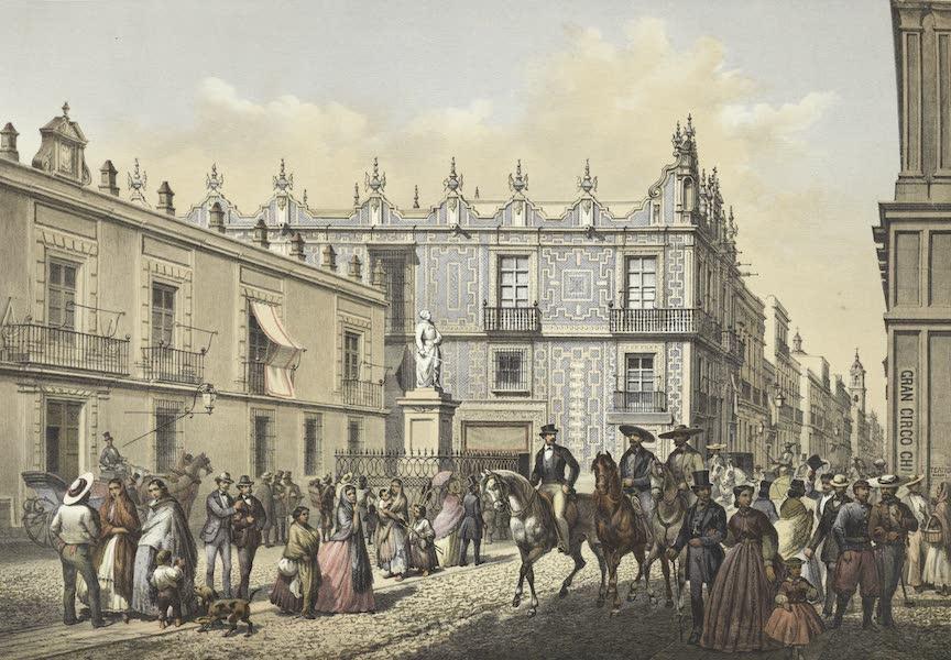 Mexico y sus Alrededories - Plaza de Morelos (1869)
