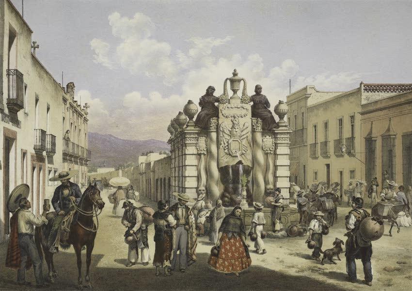 Mexico y sus Alrededories - La Fuente del Salto del Agua (1869)