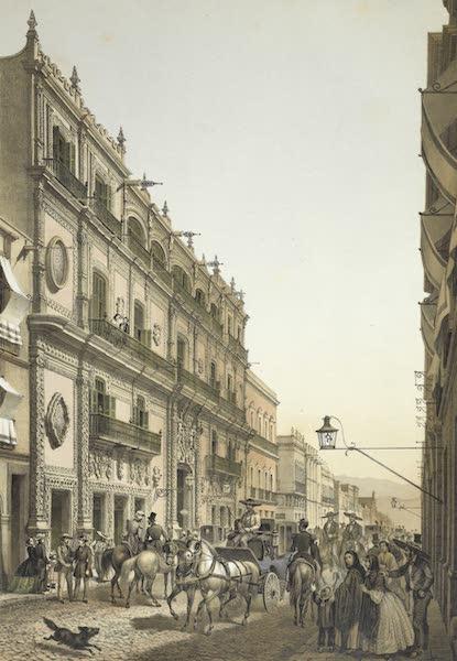 Mexico y sus Alrededories - Casa del Emperador Iturbide - Hoy Hotel de las Diligencias Generales (1869)