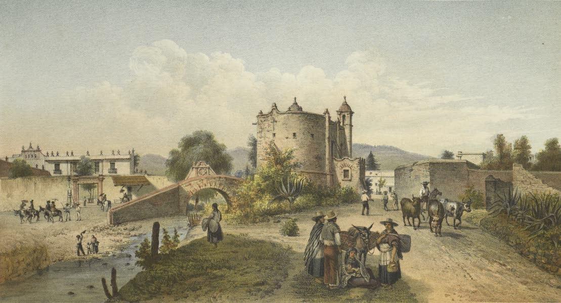 Mexico y sus Alrededories - San Antonio Chimalistaca Entrance de Sn. Angel (I) (1869)
