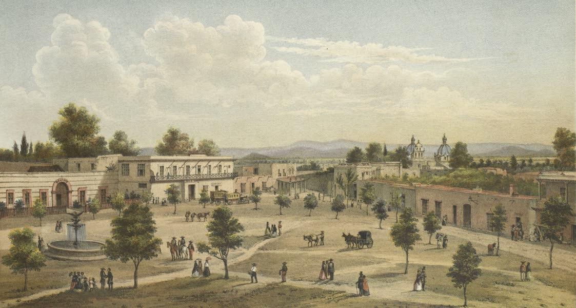 Mexico y sus Alrededories - San Antonio Chimalistaca Entrance de Sn. Angel (II) (1869)