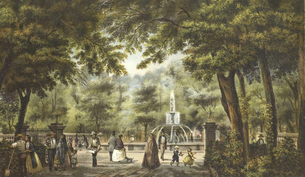 Mexico y sus Alrededories - Interior de la Alameda de Mexico (I) (1869)