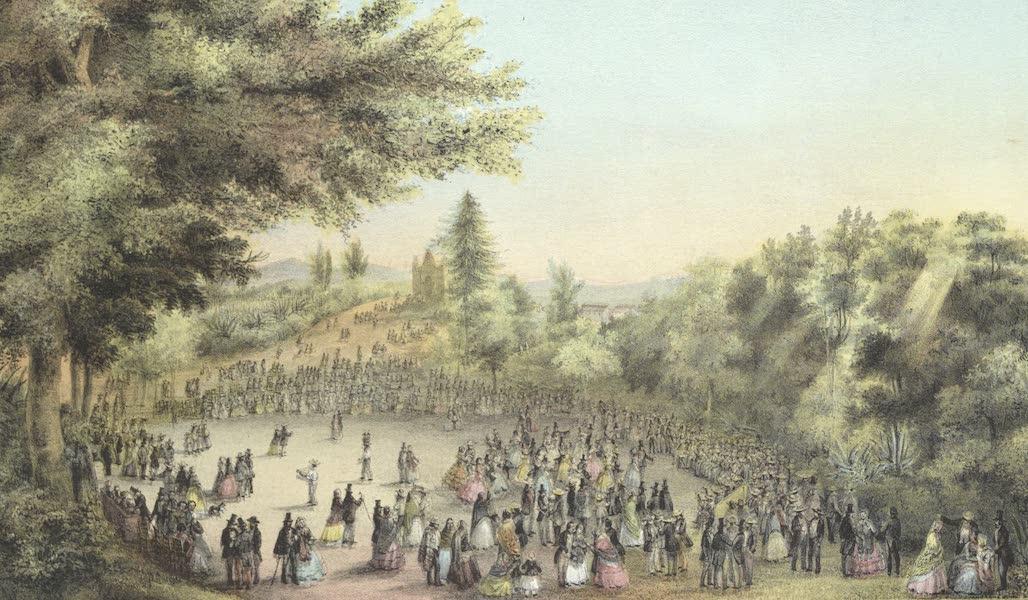 Mexico y sus Alrededories - Plaza de San Agustin de las Cuevas Ciudad de Tlalpam (II) (1869)
