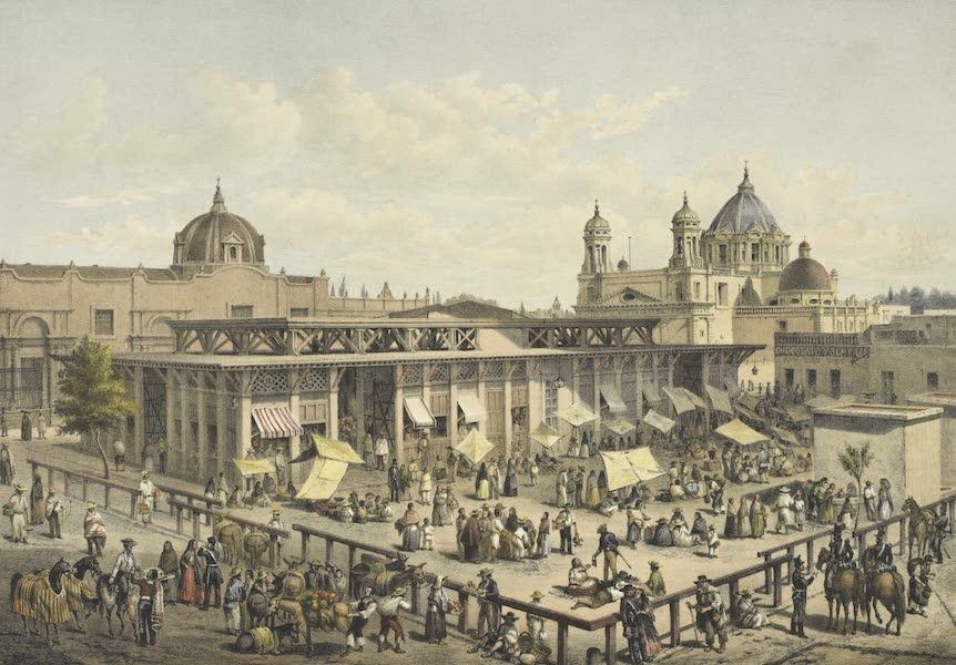 Mexico y sus Alrededories - El Mercado de Iturbide Antigua, Plaza de San Juan (1869)