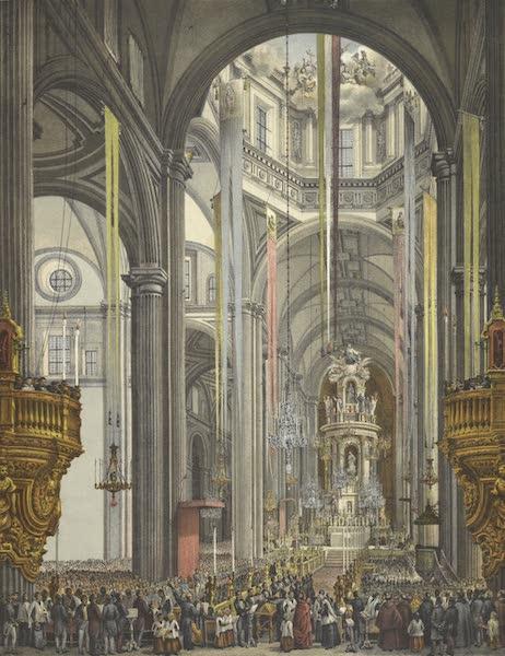 Mexico y sus Alrededories - Interior de la Catedral de Mexico (1869)