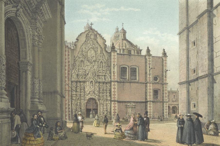 Mexico y sus Alrededories - Atrio del Convento de San Francisco 1860 (I) (1869)