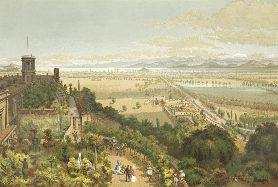 Mexico y sus Alrededories - El Valle de Mexico tomado desde las alturas de Chapultepec (1869)