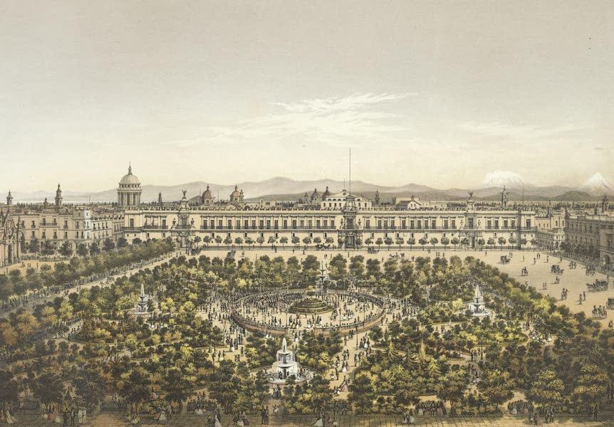 Mexico y sus Alrededories - Jardin de la Plaza de Armas (1869)