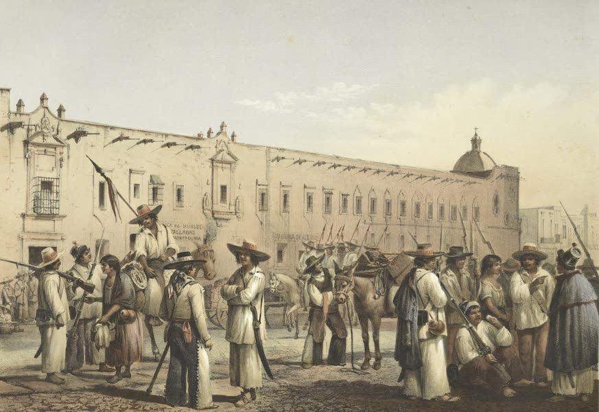 Mexico y sus Alrededories - Trajes Mexicanos Soldados del sur 1855 (1869)