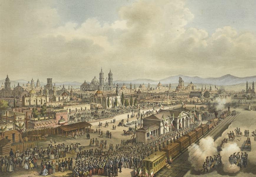 Mexico y sus Alrededories - Estacion de Puebla Inauguracion del Camino de Fierro (1869)