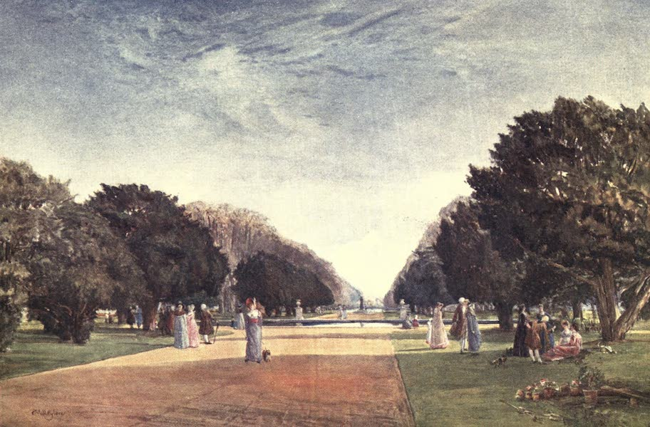 Middlesex Painted and Described - The Great Avenue, Hampton Court (1907)