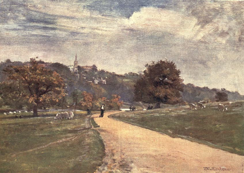 Middlesex Painted and Described - Highgate from Parliament Hill Fields (1907)