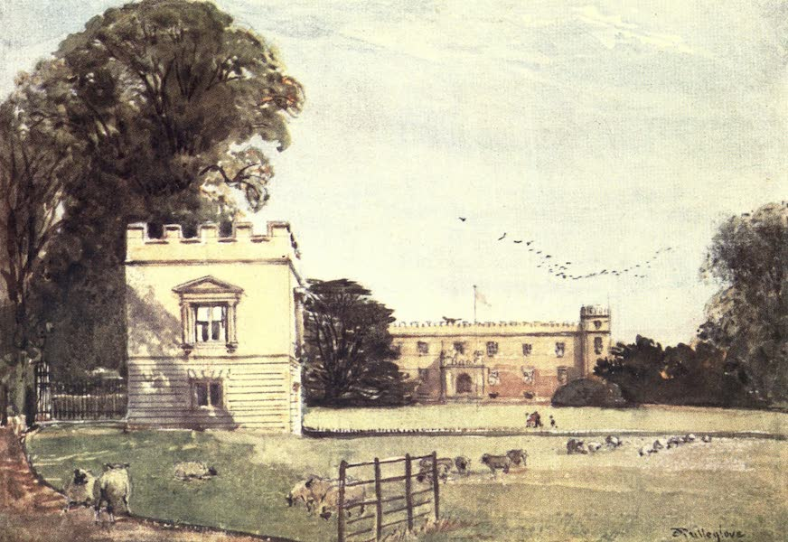 Middlesex Painted and Described - Syon House, Brentford : Garden Front (1907)