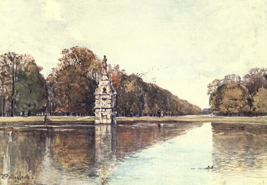 Middlesex Painted and Described - The Diana Fountain, Bushey Park (1907)