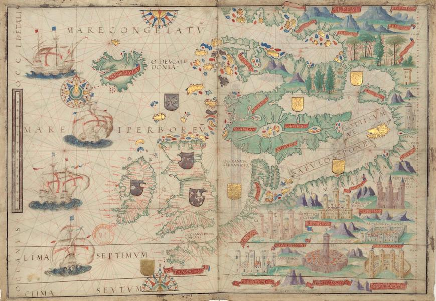 Miller Atlas - Northeastern Atlantic Ocean and Northern Europe (1519)