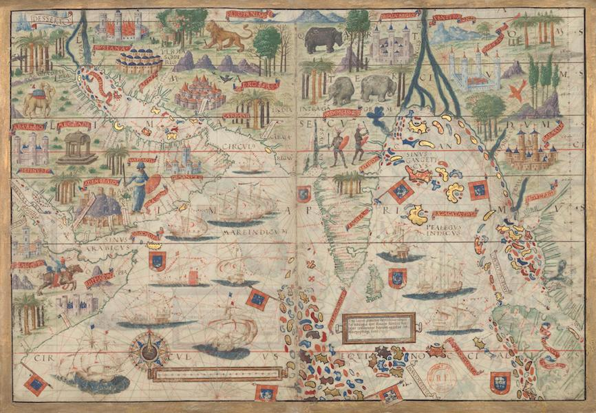 Miller Atlas - Northern Indian Ocean with Arabia and India (1519)