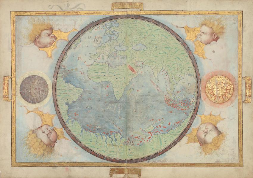 Circular World Map of the Portuguese Hemisphere