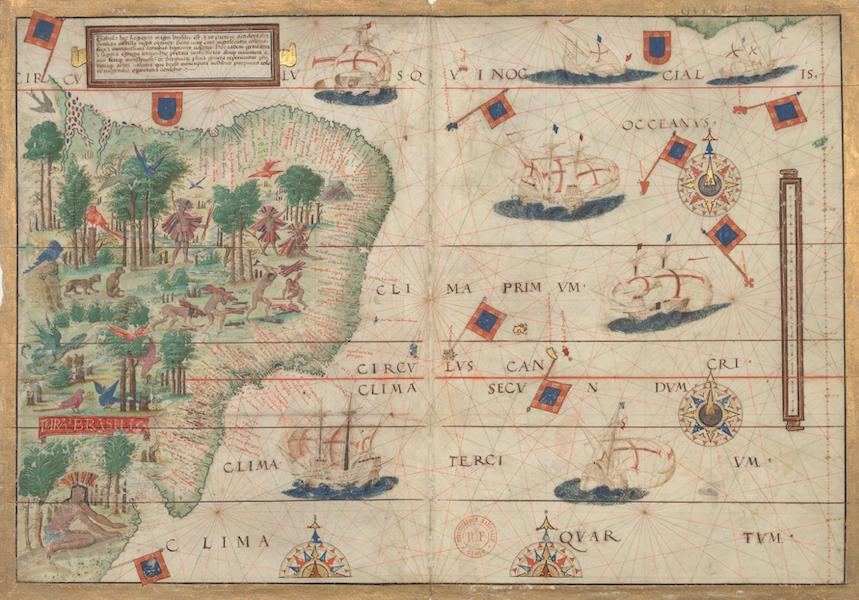 Miller Atlas - Southwestern Atlantic Ocean with Brazil (1519)