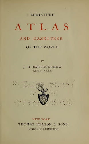 World - Miniature Atlas and Gazetteer of the World