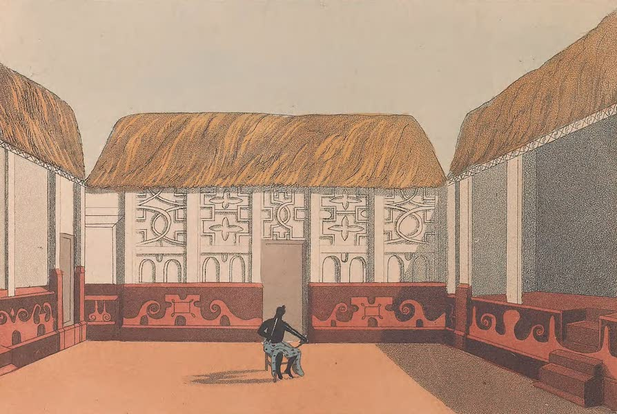 Mission from Cape Coast Castle to Ashantee - Inner Square of Apookoos House (1819)