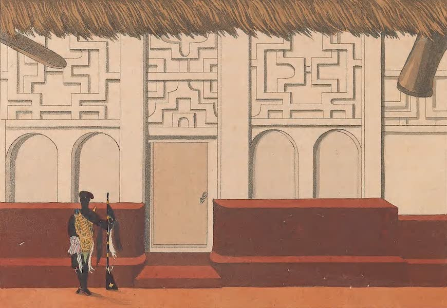 Mission from Cape Coast Castle to Ashantee - Part of the Quarters of the Mission (1819)