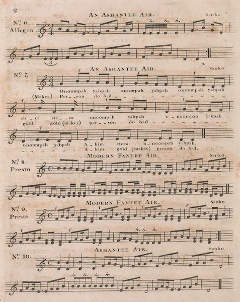 Mission from Cape Coast Castle to Ashantee - Sheet Music (II) (1819)