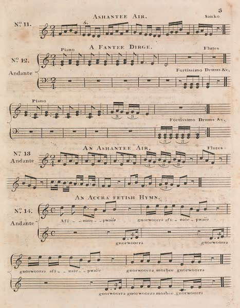 Mission from Cape Coast Castle to Ashantee - Sheet Music (III) (1819)