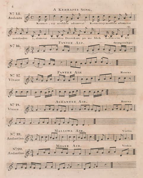 Mission from Cape Coast Castle to Ashantee - Sheet Music (IV) (1819)