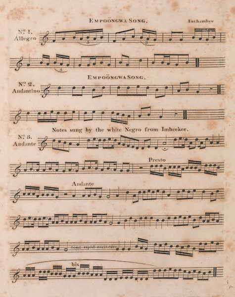 Mission from Cape Coast Castle to Ashantee - Sheet Music (V) (1819)