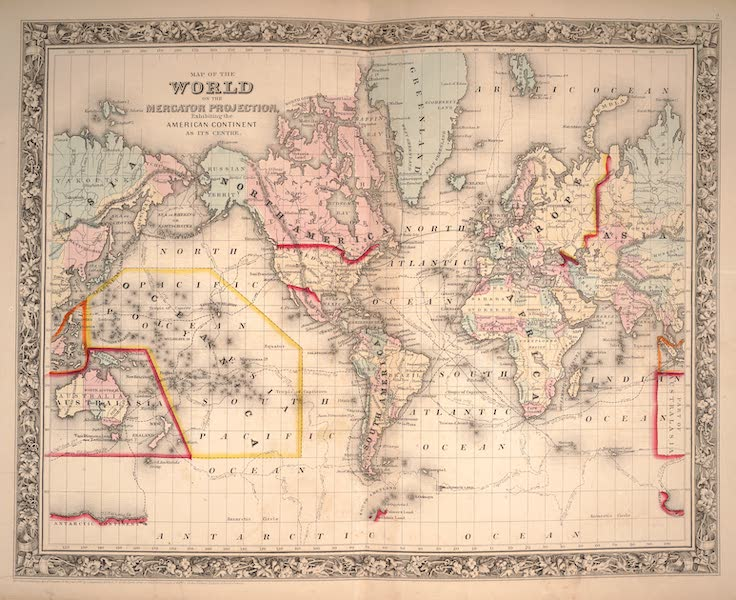 Mitchell's New General Atlas - Map of the World on the Mercator Projection (1861)