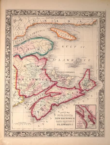 Mitchell's New General Atlas - County Map of Nova Scotia, New Brunswick, Cape Breton and Prince Edwards Island (1861)