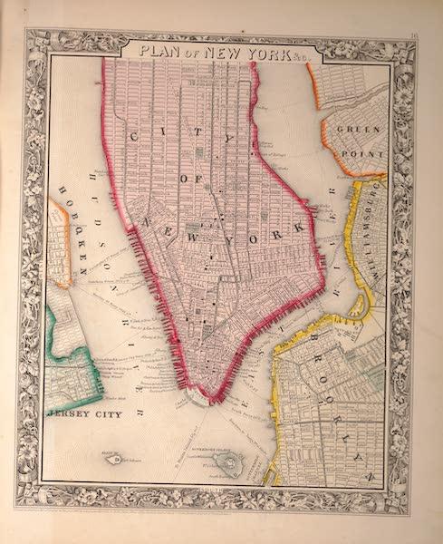 Mitchell's New General Atlas - Plan of New York (1861)
