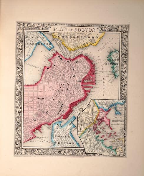 Mitchell's New General Atlas - Plan of Boston (1861)
