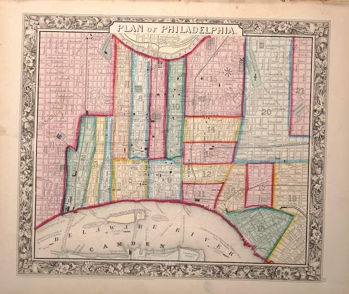 Mitchell's New General Atlas - Plan of Philadelphia (1861)