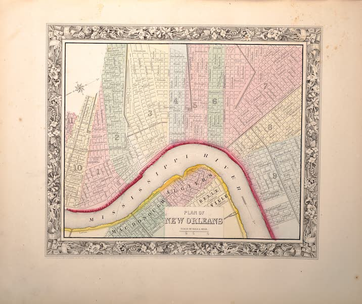 Mitchell's New General Atlas - Plan of New Orleans (1861)