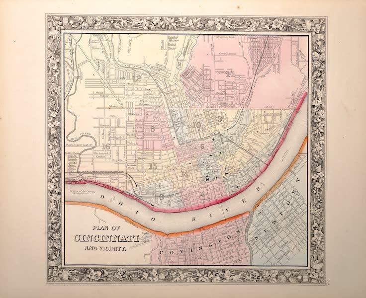 Mitchell's New General Atlas - Plan of Cincinnati and Vicinity (1861)