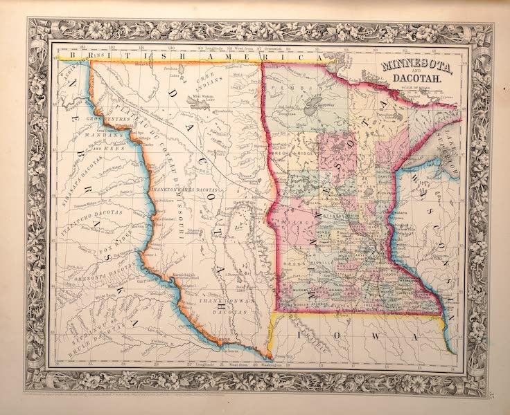 Mitchell's New General Atlas - Minnesota and Dacotah (1861)