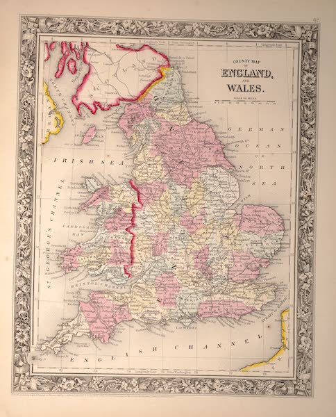 Mitchell's New General Atlas - County Map of England and Wales (1861)