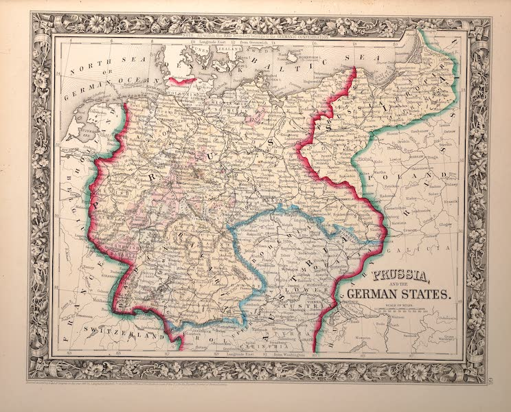 Mitchell's New General Atlas - Prussia and the German States (1861)