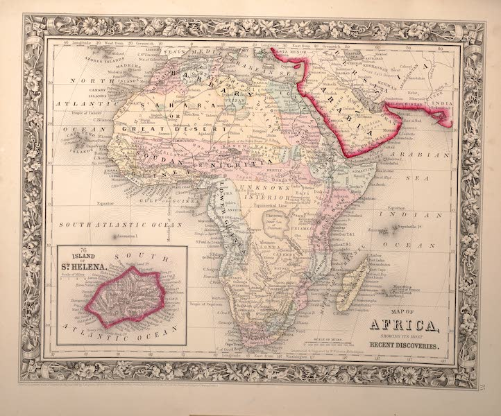 Mitchell's New General Atlas - Map of Africa Showing It's Most Recent Discoveries (1861)