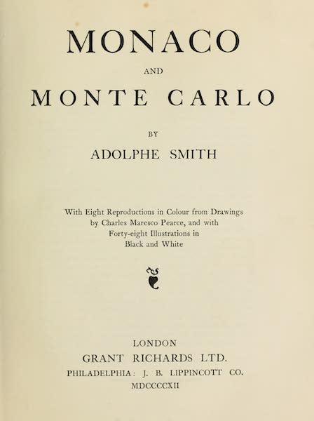 Monaco and Monte Carlo - Title Page (1912)
