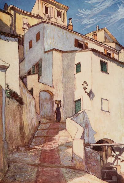Monaco and Monte Carlo - An Old Street in Monte Carlo (1912)