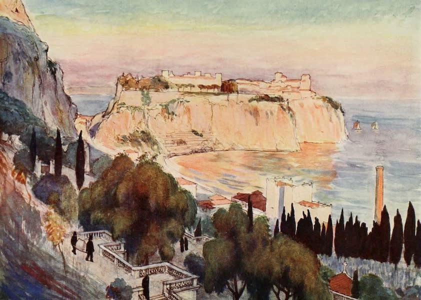 Monaco and Monte Carlo - Monaco Town and Rock (1912)