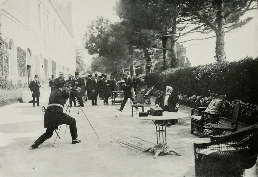 Monaco and Monte Carlo - Lieutenant Bouree Takes A Colour Photo-Graph Of The President Of The French Republic (1912)