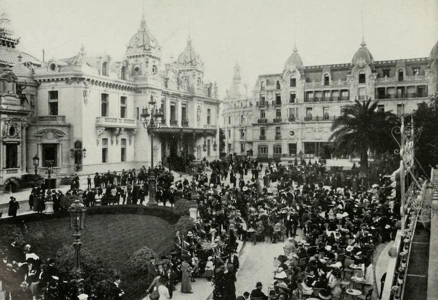 Monaco and Monte Carlo - Crowd at the Cafe de Paris in Midwinter (1912)