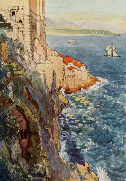 Monaco and Monte Carlo - The Extremity of the Monaco Rock (1912)