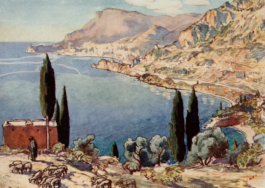 Monaco and Monte Carlo - Monte Carlo and Monaco from the Mentone Road (1912)