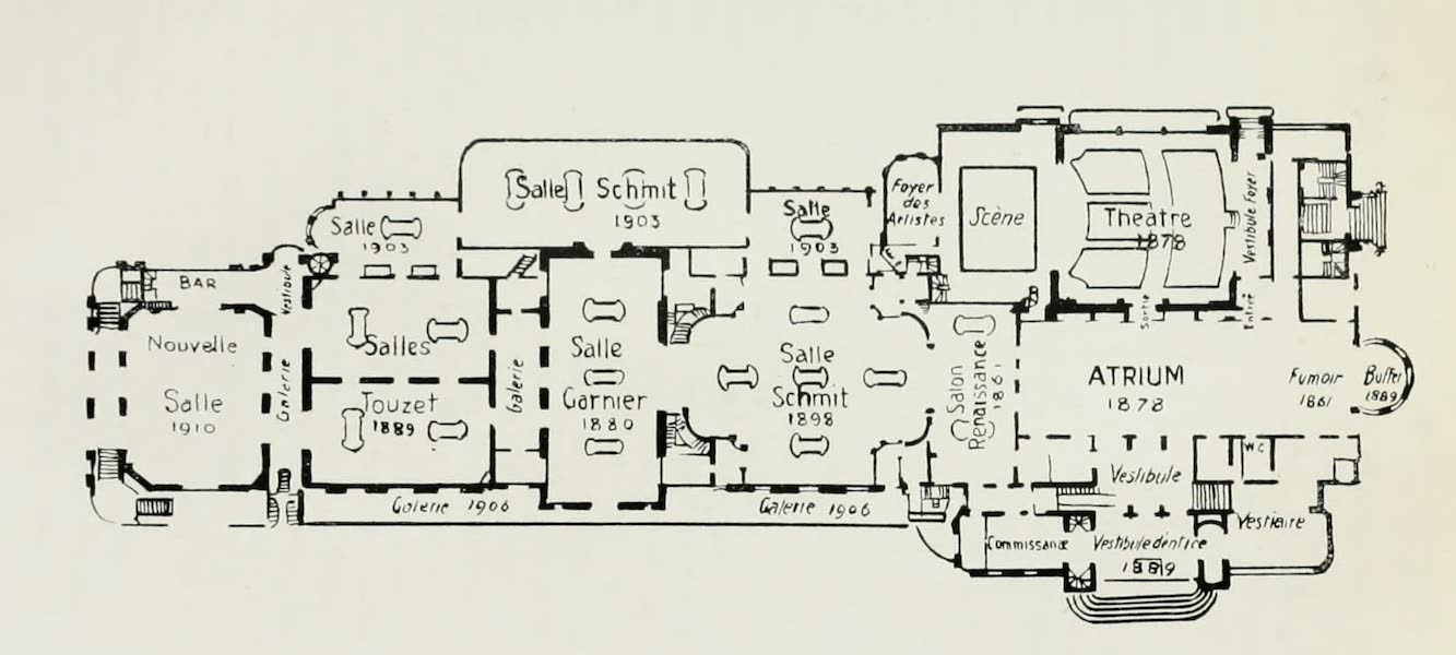 Monaco and Monte Carlo - Chronological Plan of the Casino (1912)