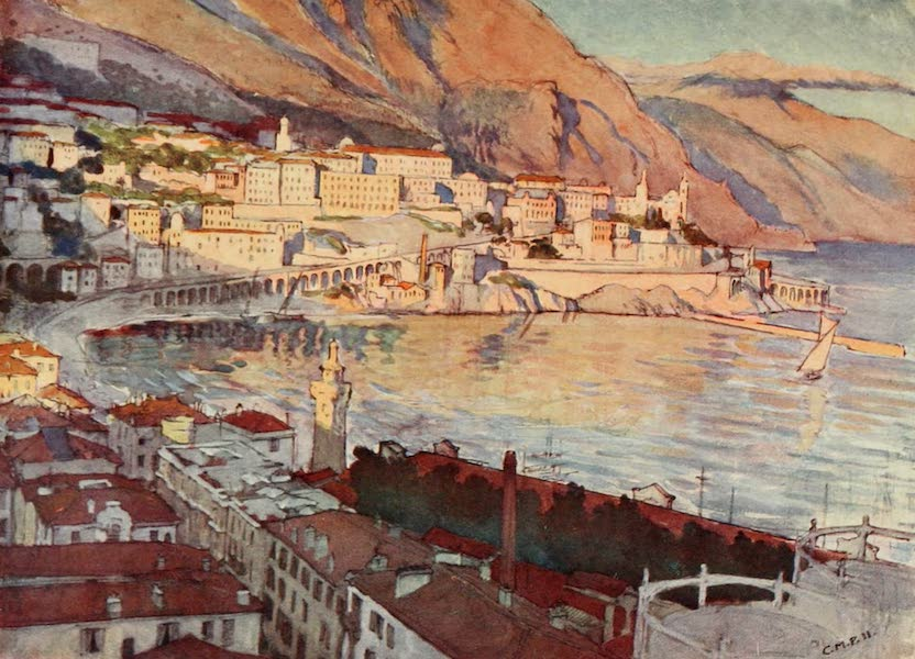 Monaco and Monte Carlo - Monte Carlo from the West (1912)