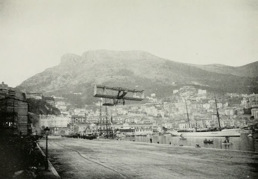 Monaco and Monte Carlo - Rougier Starting for His Flight over the Mediterranean (1912)